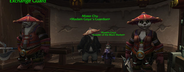 Black Markets in Pandaria!