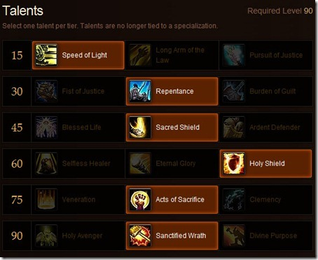 Paladin Healing Talents for MoP &ndash; Your Picks?