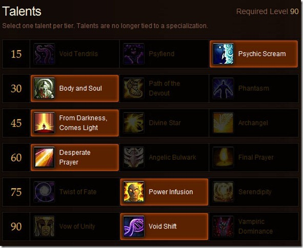 Priest Healing Talents for MoP – Which Would You Pick?